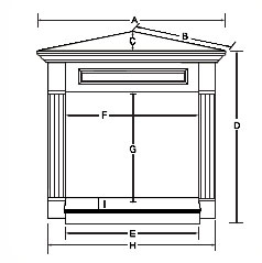 CSHGC32 Corner Mantle Dimensions