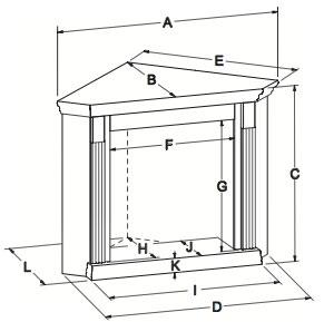 EMBC11 Standard Corner Mantle Dimensions