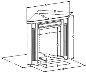 EMBC1 Corner Mantle Dimensions