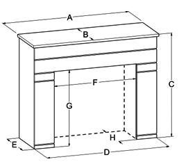 EMF1A Artisan Standard Mantle Dimensions
